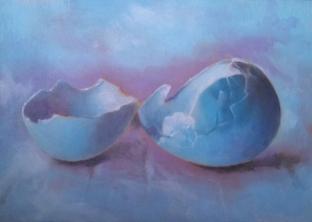 Duck Egg. Oil on panel, 2013.