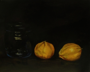 Tomatillos. Oil on panel, 2013.